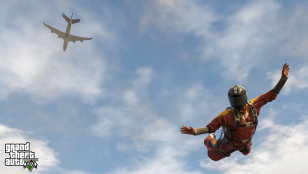 GTA V Skydiving Screenshot