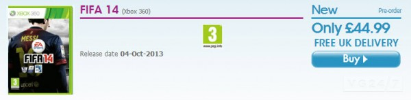 FIFA 14 Game Listing