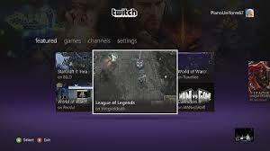 Twitch app Xbox 360