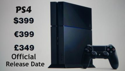 PS4 Official Release Date
