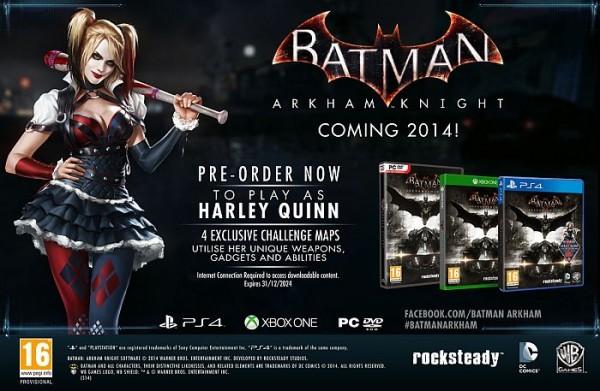 Harley Quinn dlc pre order bonus
